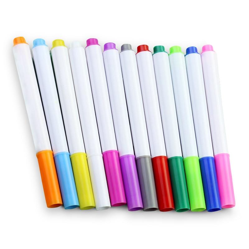 12 Pcs/set Different Colors Water-soluble Liquid Chalk Children's Drawing Pen Non-dust Board Chalk Marker Office School Supplies 6