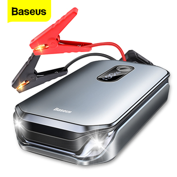 Baseus 12000mAh Car Jump Starter Power Bank 12V Auto Starting Device 1000A Car Booster Battery Emergency Starter Battery for Car baseus 8000a car jump starter battery power bank high capacity starting device booster auto vehicle emergency battery booster