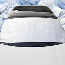 Cover Visor-Shield Glass Snow-Frost-Protection Winter Car 2pcs Silver