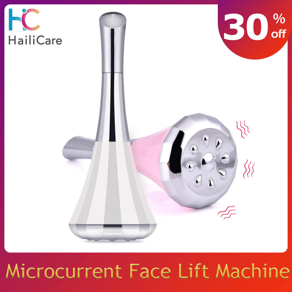 2-Way Microcurrent Face Lift ผิวกระชับ Vibrating Anti Aging Face Massager Eye Wrinkle Removal Facial Toning Device