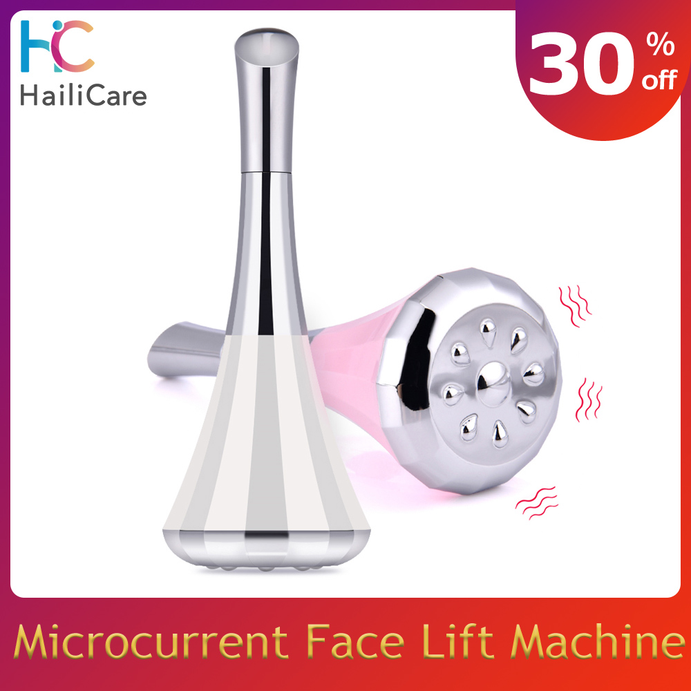 2-Way Microcurrent Face Lift Machine Skin Firming Vibrating Anti Aging Face Massager Eye Wrinkle Removal Facial Toning Device