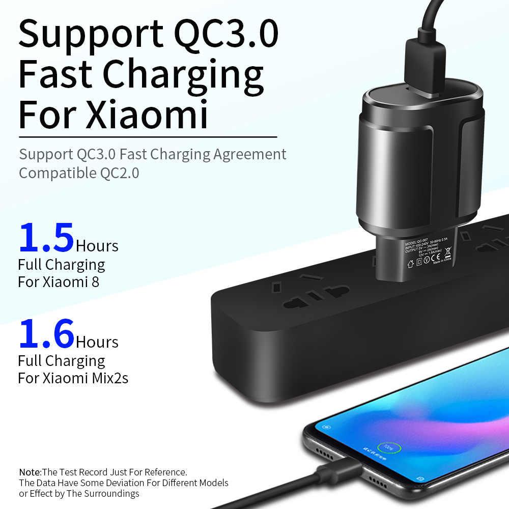 ロック急速充電 QC3.0 USB 米国 EU 急速充電器ユニバーサル携帯電話 USB 充電アダプタ Iphone サムスン xiaomi