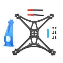 Hglrc palito parrot132 kit quadro de fibra carbono com impressão 3d tpu dossel para rc quadcopter fpv corrida zangão