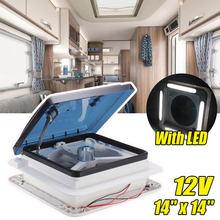 Motorhomes aberturas ventilador 11 14 14 14 accessories caravan acessórios de controle manual para rv motorhome reboque com led 12 volts barco