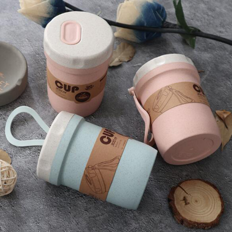 300ml Portable Sealed Leak-Proof Lunch Box Environmentally Friendly Round Porridge Cup Soup Cup Food Container Lunch Box