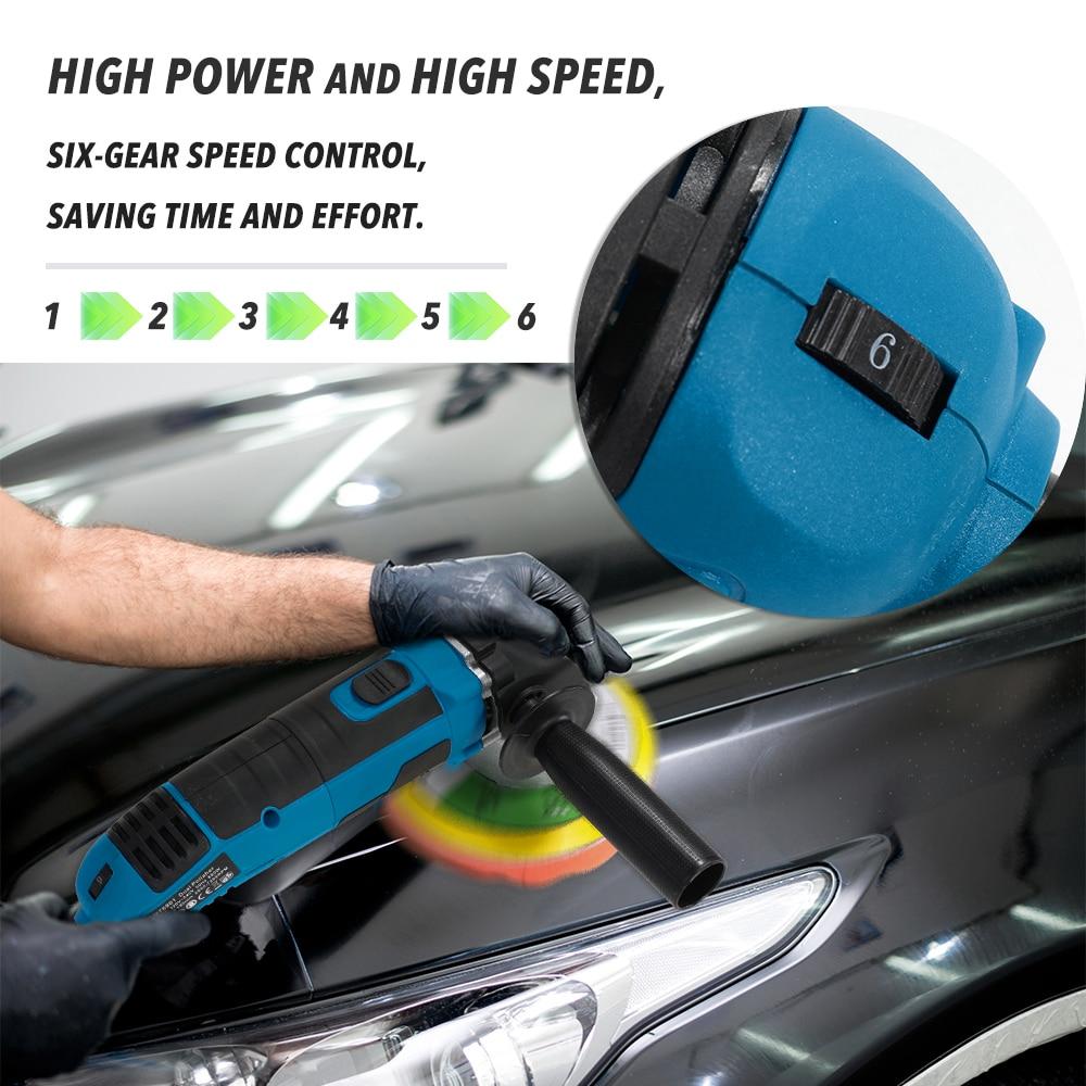 Adjustable Shock Action Speed Polishing Car 680W Glaze Machine Sealing Polisher Dual Car Polisher Machine Professional Waxing