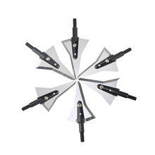 6/12Pcs Broadhead Arrowhead  2 Blades Archery Arrowheads Compound Bow and Recurve Shooting Training Accessories