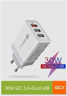 30W QC+Dual USB
