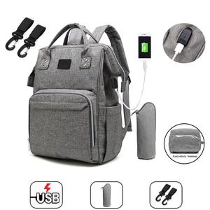 Image 1 - Модная сумка для подгузников для мам, большая сумка для кормления, дорожный рюкзак, дизайнерская сумка для детской коляски, рюкзак для подгузников для ухода за ребенком