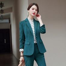 Women's suit 2019 autumn new fashion temperament casual Slim wild corduroy singl