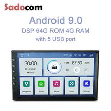 PX6 IPS 7 #8222 2 din Android 10 0 4GB RAM 64GB ROM 6 rdzeń samochodowy odtwarzacz dvd odtwarzacz uniwersalny RDS Radio samochodowe nawigacja GPS z Bluetooth wifi tanie tanio Sadocom CN (pochodzenie) podwójne złącze DIN 4*45W Android 9 0 JPEG DVD-R RW DVD-RAM VIDEO CD Plastic Steel 1024*600