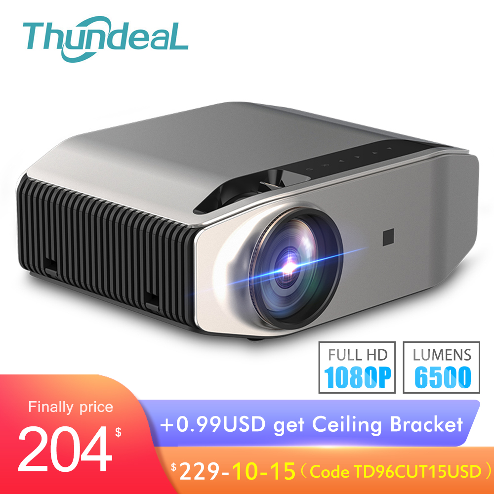 ThundeaL Full HD Native 1080P Projector TD96 Projector 6500Lumens LED Wireless WiFi Multi-Screen Beamer 3D Video Proyector