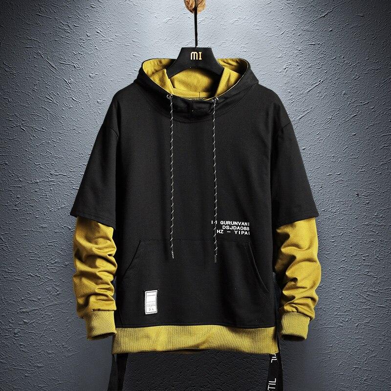 Hoodie Sweatshirt Mens Hip Hop Pullover Hoodies Streetwear Casual Fashion Clothes Colorblock Hoodie Cotton Hoodies Sweatshirts Aliexpress