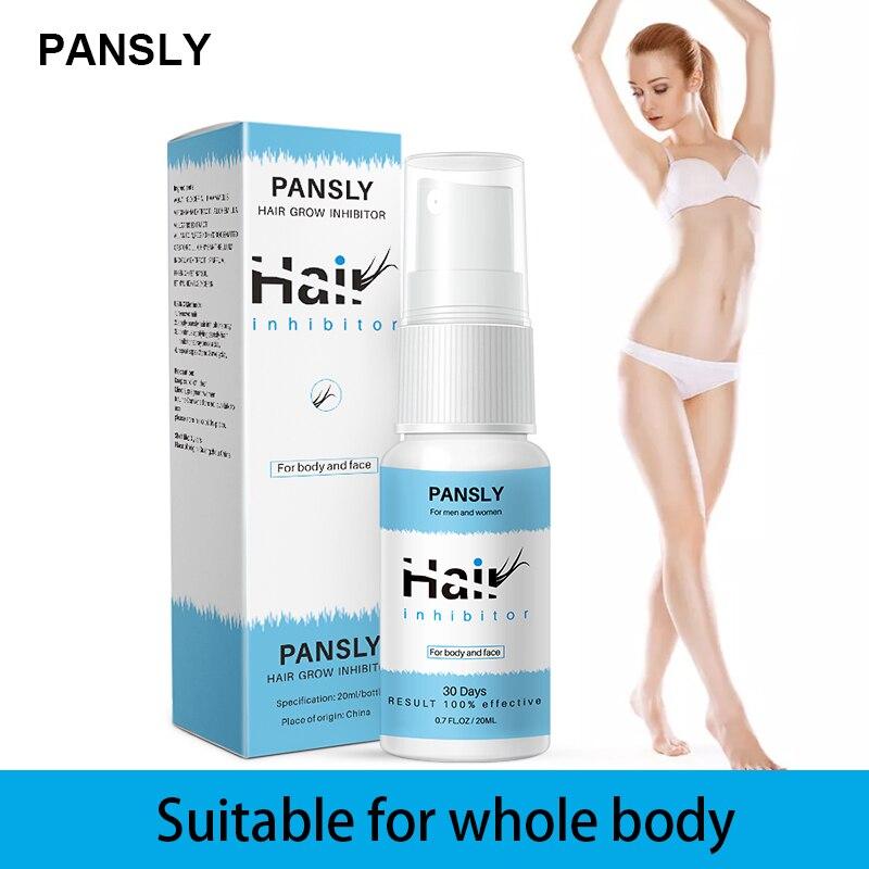 Pansly inibe o crescimento do cabelo creme sprays paintles todo o corpo impede que o crescimento do cabelo seja suave não-irritante remoção do cabelo tslm2