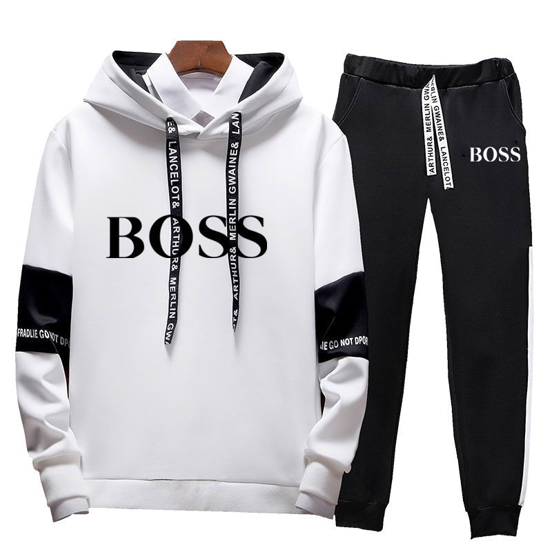 Outdoor Sports Fitness Training Men's Trend Personalized 2019 Men's Sets Fashion Sportswear Tracksuits Hoodies+Pants Sets New