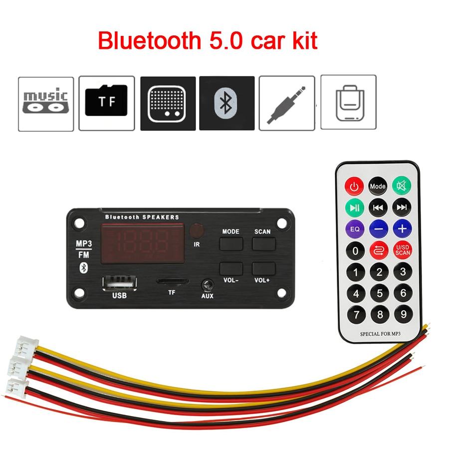 Большой цветной экран автомобильный аудио USB TF FM радио модуль беспроводной Bluetooth 5V 12V MP3 WMA декодер плата MP3 плеер с пультом дистанционного управления|MP3-плееры|   | АлиЭкспресс