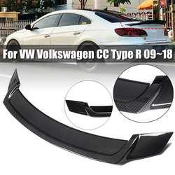 1 sztuk z włókna węglowego styl/połysk czarny plastik ABS tylny spoiler dachowy skrzydło Lip dla VW dla Volkswagen dla CC typu R 2008 2018 na