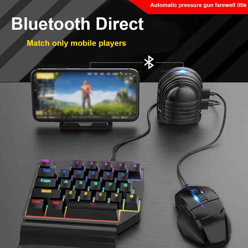 Gamepad Pubg Mobile <font><b>Bluetooth</b></font> 4.0 Android PUBG Controller Automatic Pressure Grab Box Tablet Peripheral <font><b>Keyboard</b></font> Mouse <font><b>Converter</b></font> image