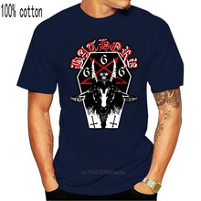 Bathory Heavy Metal In Conspirscy With Satan Tops Tee T Shirt Black And White USA Size Humorous Cotton T-Shirt