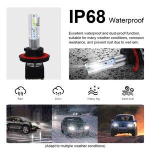 Image 5 - Roadsun CSP H4 LED H1 H11 9005 9006 H7 LED Del Faro Dellautomobile 3 Colori che cambiano fari 3000K 4300K 6000K 50W 12000LM Auto Luci