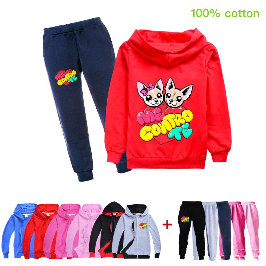 Baby Boys Spring Autumn Me Contro Te Sports Suit 2 Pieces Set Tracksuits Kids Clothing Sets teens girls Clothes jacket Coat Pant 1