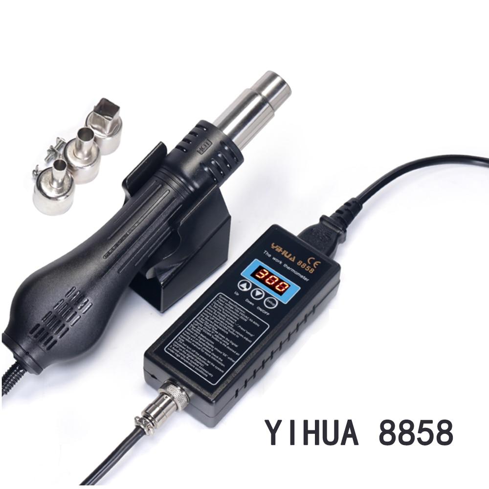 YIHUA 8858 110 V 220 VPortable Estação de Retrabalho BGA estação De Solda Digital secador de Sopro de Ar Quente Arma estação de Solda De