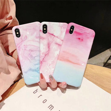 Colorful marble phone cases on for coque iphone xs max xr x 8 7 plus case silicone soft tpu luxury back cover 7plus 8plus 6s 6 s