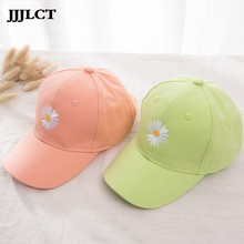 Spring and Summer Korean Style Candy Color Hat Children GD Daisy Embroidered Casquette Boys and Girls All-match Sin Baseball Cap(China)