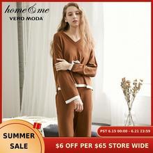 Vero Moda/Новый Трикотажный костюм со штанами; Домашняя одежда; 3183K6504