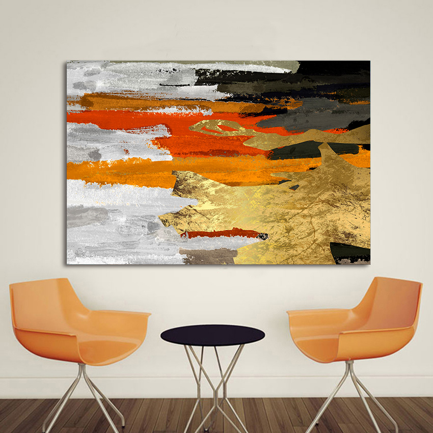 Modern Wall Pictures for Living Room with Frame Art Luxury Poster Abstract Oil Painting on Canvas Handmade Prints Home Decor
