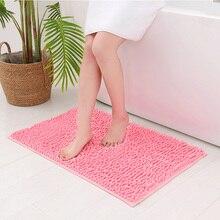 Soft Chenille Bath Mats Chenille Floor Mat Kitchen And Living Room Carpet, Microfiber Bathroom Mat, Door Non-slip Floor Mat