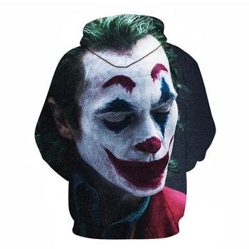 joker costume 2019 Sweatshirts Men Brand Hoodies Men 3D Printing Hoodie Male Casual Tracksuits Size S-6XL Wholesale and retail 2