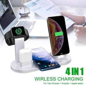 Image 5 - 3 in 1 Qi Wireless Charger For iPhone 11 8 X XS XR Samsung S10 S9 15W Fast Charging Dock Stand for Apple Airpods Pro Watch 5 4 3