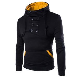 2020 moletom feminino inverno Men Autumn Long Sleeve Patchwork Hoodie Hooded Sweatshirt Top Tee Outwear Blouse
