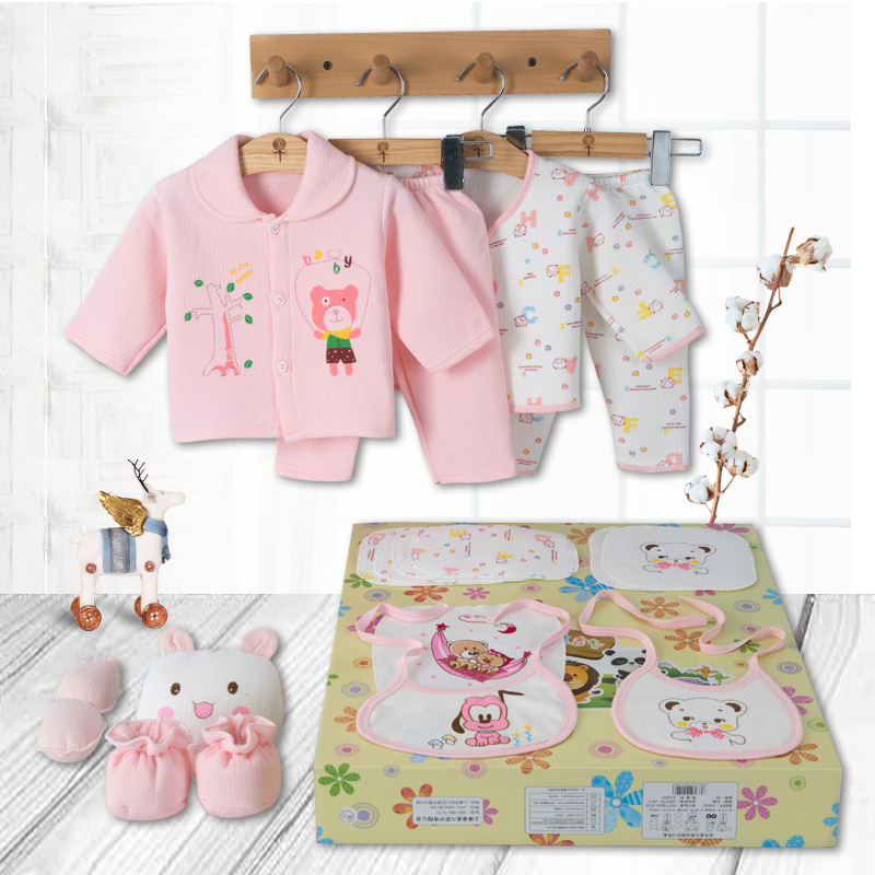 Thick Pure Cotton Clothes For Babies Newborns Gift Box Winter Maternal And Child Supplies Newborn Baby Underwear Suit