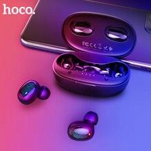 HOCO TWS True Touch słuchawki Bluetooth Stereo HD słuchawki bezprzewodowe z redukcją szumów sportowy zestaw słuchawkowy do gier 500mAh etui z funkcją ładowania