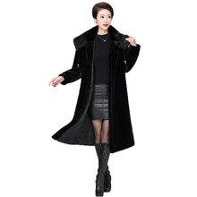 faux fur coat women S-5XL plus size black 2019 winter new europe and america long sleeve fashion jacket feminina LR455