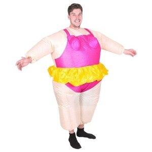 Image 2 - Halloween kostüm für Frauen Aufblasbare Ballerina Phantasie Kleid Aufblasbare Party Tanzen Kostüm Fett Anzug Stag Hen Night Outfit