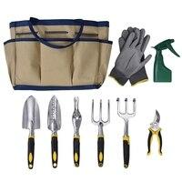 WSFS الساخن 9 قطعة مجموعة أدوات الحدائق تشمل حديقة حمل حقيبة وأدوات يدوية 6x-في مجموعات أدوات يدوية من أدوات على