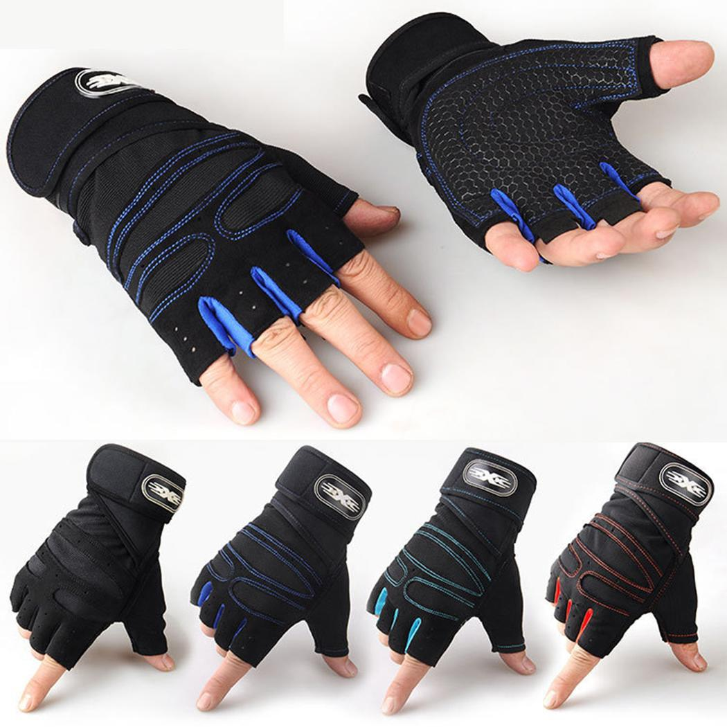 Cycling Gloves Half Finger Breathable Anti-slip Outdoor Red, Light Blue, Blue, Black Protective Mitten