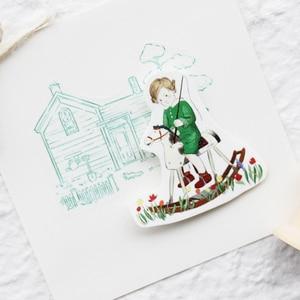 Image 4 - Moodtape washi bant orman hayvan peri masalı çocuk Scrapbooking albümü diy el yapımı dekorasyon çıkartması maskeleme kağıt bant