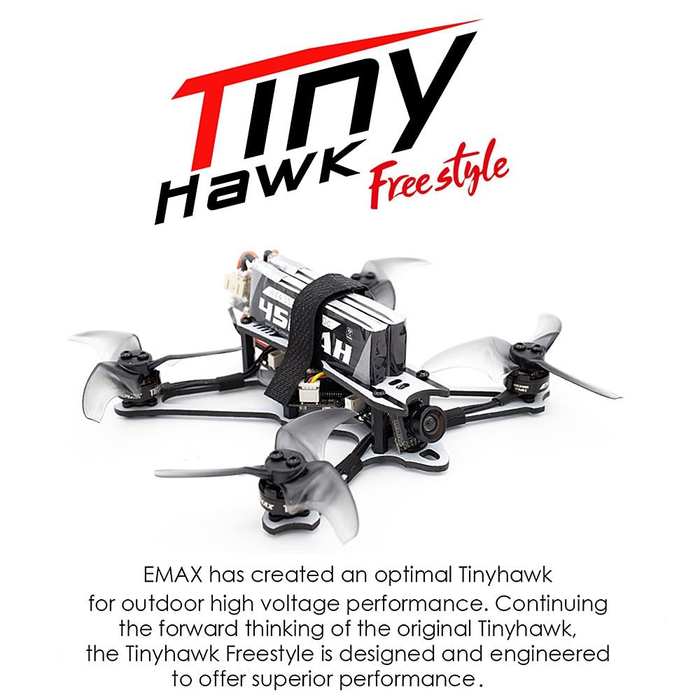 Oyuncaklar ve Hobi Ürünleri'ten RC Helikopterler'de EMAX Tinyhawk Freestyle 115mm 2.5 inç F4 4in1 5A ESC TH1103 7000KV fırçasız Motor FPV yarış RC Drone BNF sürümü title=