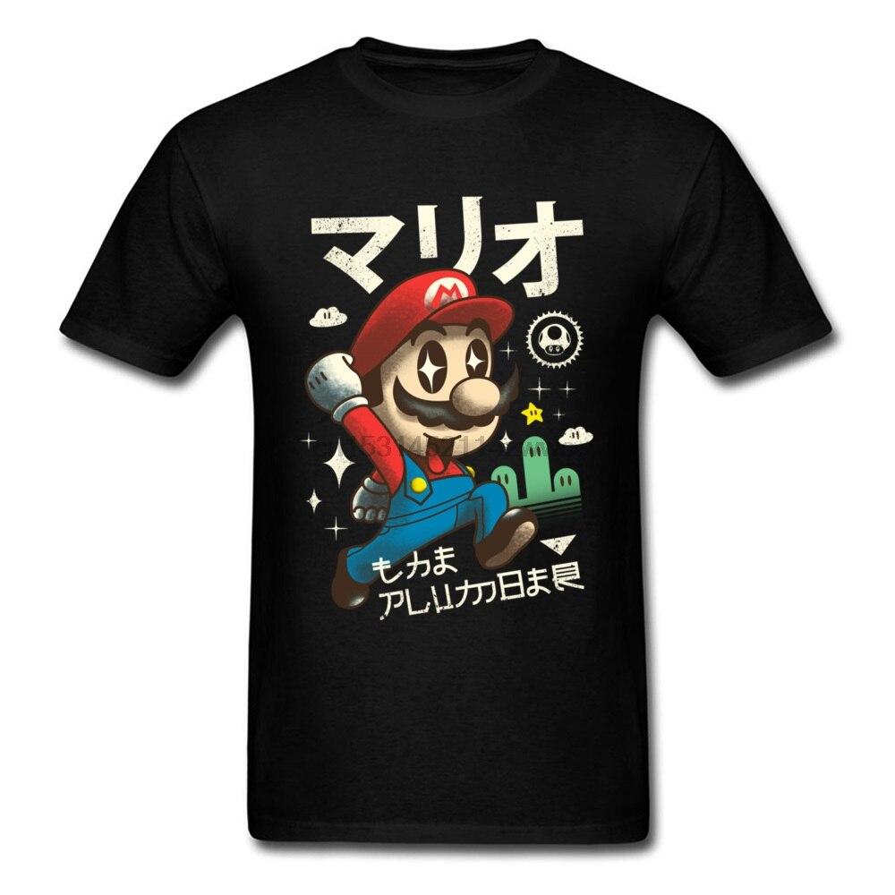 Tshirt New Kawaii Red Plumber Japan Anime Happy Nice T-Shirt 100% Cotton Casual Tee Shirts For Student T Shirt Sales
