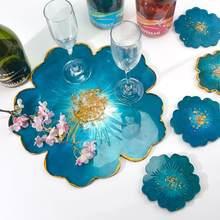 DIY kiraz çiçekleri çiçek reçine kalıp el yapımı Coaster kompostosu tepsisi UV epoksi silikon kalıp için ev dekor reçine zanaat