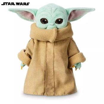 цена на 100% Genuine Disney Star Wars Baby Yoda Plush Toy Master Baby Yoda Mandalorian Anime Figures Stuffed Plush Doll Kids Gifts