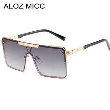 Цельные солнцезащитные очки для мужчин и женщин модные большие