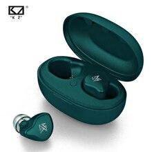 KZ S1 S1D TWS prawdziwe bezprzewodowe wkładki douszne Bluetooth 5.0 1BA + 1DD hybrydowe słuchawki douszne z redukcją szumów słuchawki sportowe