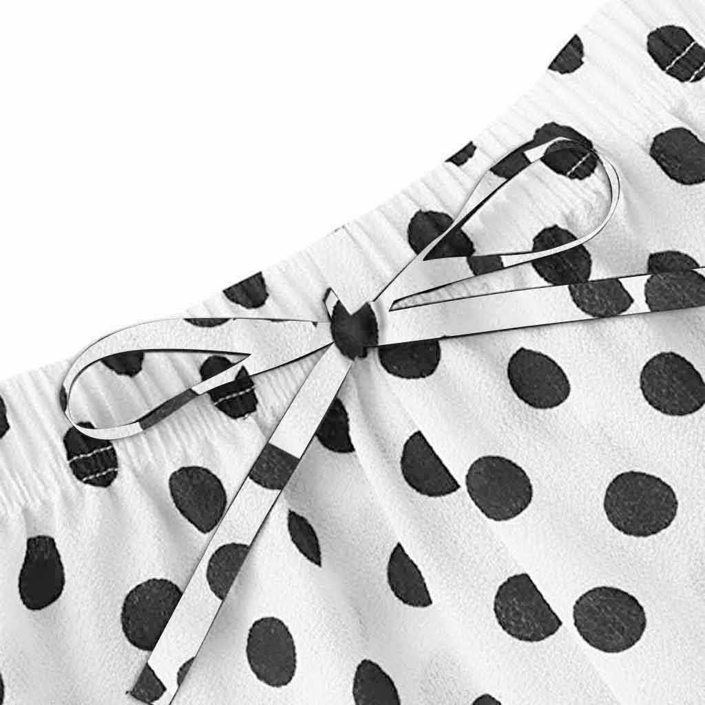 2019 moda dziewczyny słodkie koronki haftowane jedwabne Dot bielizna i szorty piżamy dla zestaw do spania Club Party