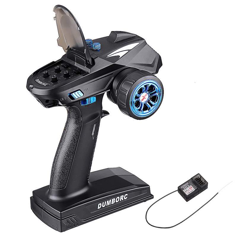 DumboRC X6 X4 X6P 2,4G 6CH передатчик ж/пульт дистанционного управления X6FG гироскопа X6F приемник светодиодный светильник Набор для 1/10 1/8 гусеничный осе...