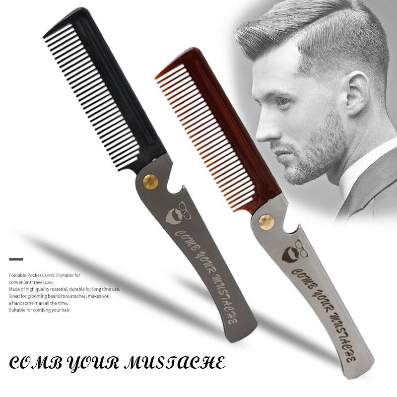 Mens Beard Womem Hair Comb Folding Sandalwood 4 Kind Optional Grooming Moustache